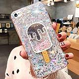 JAWSEU Compatible avec iPhone 6/iPhone 6S Coque Silicone Glitter Paillette Brillant...