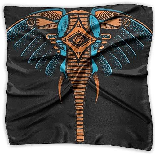 Pizeok Elefantenei Tattoo gedruckt quadratischen Schal Schal Kopf Wickeln Schal