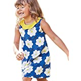 Outtop(TM) Dress Summer Sleeveless Print Princess Dress Casual Party Clothes 4T(3~4year) Blue