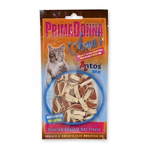 Aria's Gatto, Snack al Pollo e Pelle di Pesce 100% Naturale Gr.100