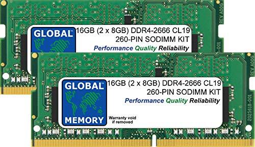 16GB 2 x 8GB DDR4 2666MHz PC4-21300 260-PIN SODIMM