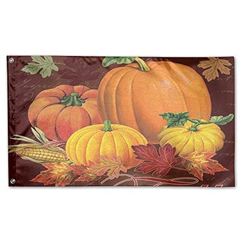 Halloween Kürbisse Smiling Garden Flagge 3'x 5', 100% Polyester, weiß, Einheitsgröße ()