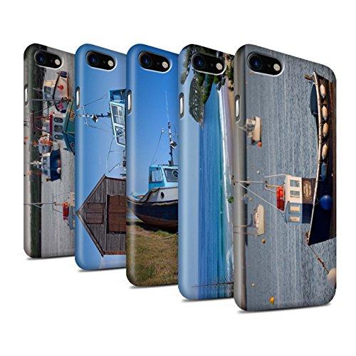 STUFF4 Matte Snap-On Hülle / Case für Apple iPhone 8 / Küste Muster / Britischen Küste Kollektion Pack 16pcs