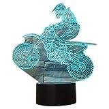 3D Illusion Lampen MTB Motocross Bike 7 Farben Led Nachtlicht Touch-Schalter Schlafzimmer Schreibtisch Beleuchtung für Kinder Geschenke Haus Dekoration