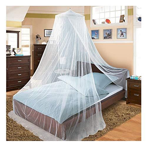 DUXY Moskitonetz, Vorhänge für Bettüberdachungen, konische und rechteckige Form für Zuhause und Reisen, weiß - Zwei Packungen mit Moskitoaufklebern