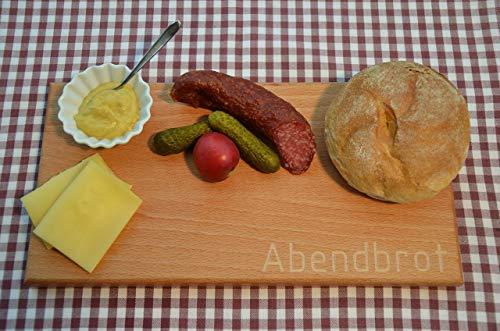 Behandlung Fall (Schneidebrett Abendbrot | Frühstücksbrettchen | Cutting Board | Holzbrettchen | Kochbrett | Vesperbrett)