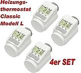 eQ-3 Eqiva Model L - Termostato elettronico con Funzione Boost, Set da 4