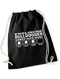 3cbee7ec1b302 Siviwonder Turnbeutel - ENGLISCHE BULLDOGGE english Bulldog Bulldoggen -  HÖREN AUFS WORT Baumwoll Tasche Beutel…