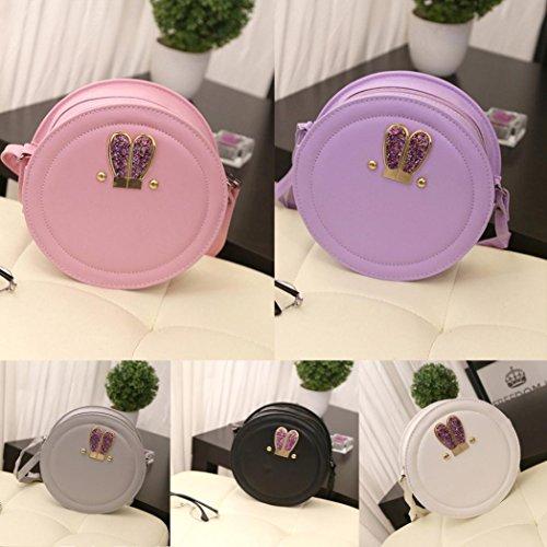 BZLine® Frauen Mädchen Bling Hase Kaninchen Ohr Mini Handtasche Schulter Tasche Pink