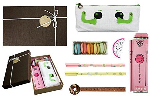 Emartbuy Cool Schreibwaren Einzigartiges Geschenk Set Mit Bleistift, Gelschreiber, Radierer,...
