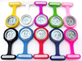 QBD-Black-Digital-Unisex-Multi-Function-Silicone-NursesBroochTunicFobPocketCarabiner-Watch