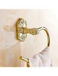 Toalla Anillo Estilo Europeo Toalla Rack Toalla Colgante Anillo Bañado En Oro Baño Accesorios De Baño