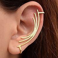 Boucle d'oreille en or sans piercing, bague d'oreille non percée, bague d'oreille minimaliste, boucle d'oreille helix, boucle d'oreille hypoallergénique, Grimpeur d'oreille