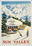 Herbé TM Poster/Reproduction 30x42cm d'1 Affiche Vintage/Ancienne Ski Sun Valley/RéTRO...
