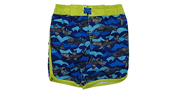 Joe Boxer Infant Boys Skeleton Fish Swim Trunks Shark Board Shorts