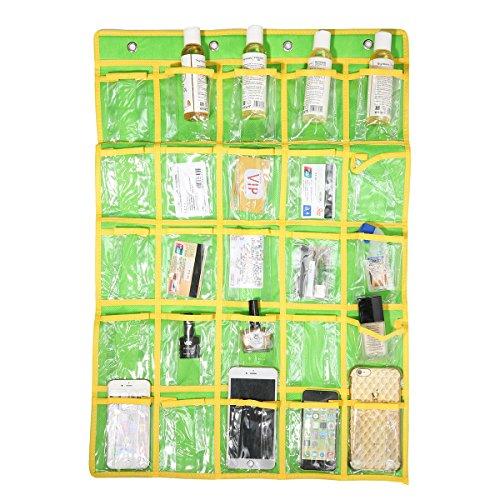 Pocket Schmuck-organizer (Caveen Klassenzimmer Pocket Diagramm Taschen-Diagramm für Handys und Taschenrechner Organizer Wand oder Tür Aufhänger Lagerung Organizer 25 Taschen (Grün))