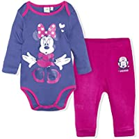 Disney Minnie Mouse Baby Girls Clothing Set Joggers + Babygrow Top Long Sleeve 0-24 Months - New 2017/18