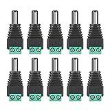 Gleichstromanschluss 10 Stück Gleichstromkabel Jack Stecker für CCTV Kamera