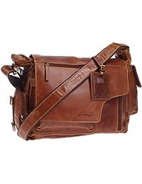 c624eadc0dc33 Greenburry Expedition Leder-Handtasche Ledertasche Umhängetasche - Echt  Leder-Überschlagtasche…
