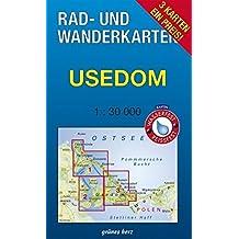 """Rad- und Wanderkarten-Set: Usedom: Mit den Karten: """"Zinnowitz, Ückeritz, Peenemünde"""", """"Heringsdorf, Ahlbeck, Bansin und Swinemünde"""" und """"Lieper Winkel ... 1:30.000. Wasser- und reißfeste Karten."""