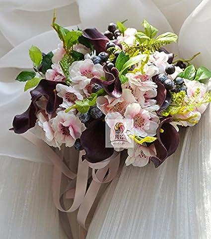 Yxhflo Emulation Blume Blumen Hochzeit Kunst Brautsträuße Kirschblüten Die Klauen Des Hand-Lin