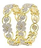 YouBella American Diamond Floral Shape G...