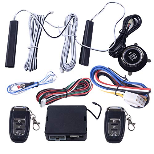 CITALL 9 Stück 12V Auto PKE Passive Keyless Entry Push Button Remote Starter Engine Start Stop Alarm System Set