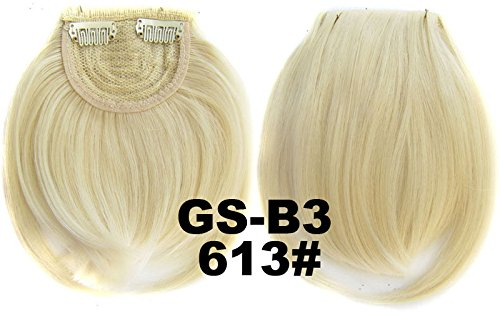 # 613 100% fibre synthétique haute température Clip dans/sur cheveux avant frange frange cheveux