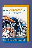 Männer Karte Geburtstag Biker Motorrad Reise 16x11cm