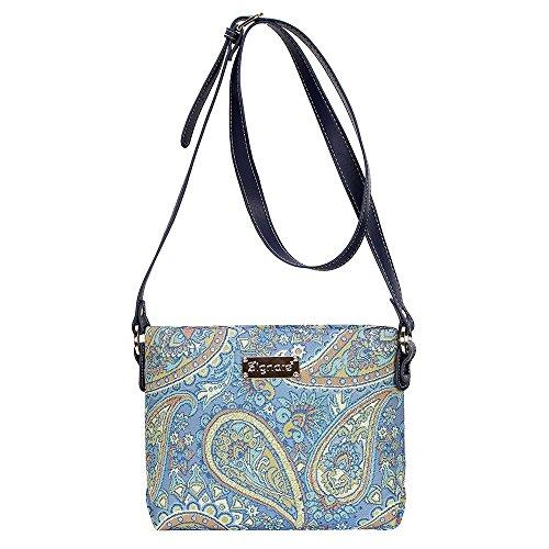Borsetta donna Signare alla moda in tessuto stile arazzo a spalla borsa messenger a tracolla floreale Paisley