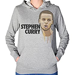 Stephen Curry Head Art Women's Hooded Sweatshirt Extra Large