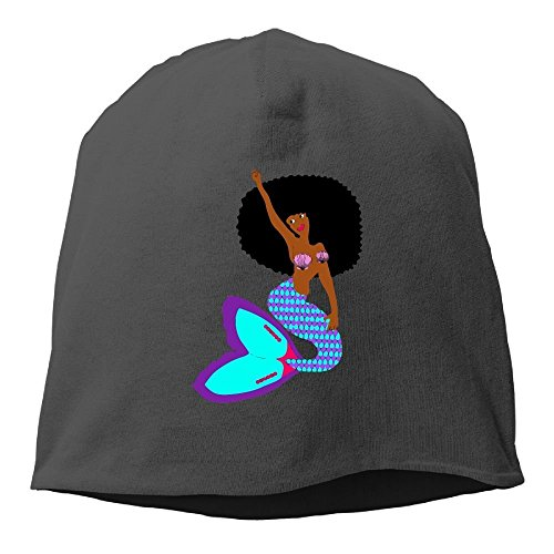 Doormats-shirt African Mermaid with Shell Bikini Beanies Cap for Men Women