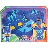 PJ Masks - Transfórmate en Gatuno, disfraz infantil, color azul (Bandai 24601)