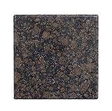 Tischplatte, Arbeitsplatte Küchenplatte 40cm x 40 x 4 cm, aus poliertem Granit, Unikat Handarbeit, 10 KG (Dunkelrot)