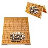 Colección de juegos Juego de juego Go Juego de juego magnético Juego de juego Go Magnético Conveniente de piedras convexas individuales Diseño de tabla plegable portátil para niños y adu