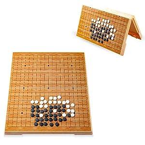 Dfghbn-YXWJ Go Game Set Go Board Set for Kinder und Erwachsene Praktische magnetische Einzel-Convex Stones Travel…