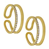 #2: MUCHMORE White Gold Plated Toe Ring For Women