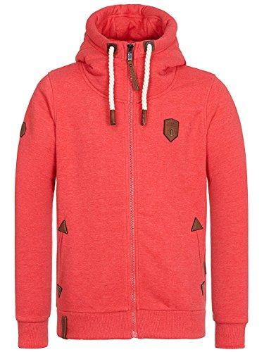 Naketano Male Zipped Jacket Schwarzkopf IV cherry melange