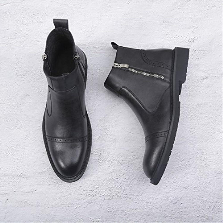 Männer  stiefel für Männer casual mode lederstiefel martin martin stiefel schwarz 38