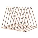 Godagoda Étagère à Livres Original 9 Carées Forme Triangulaire Métal Durable Rangement des Livres Bureau Cadeau
