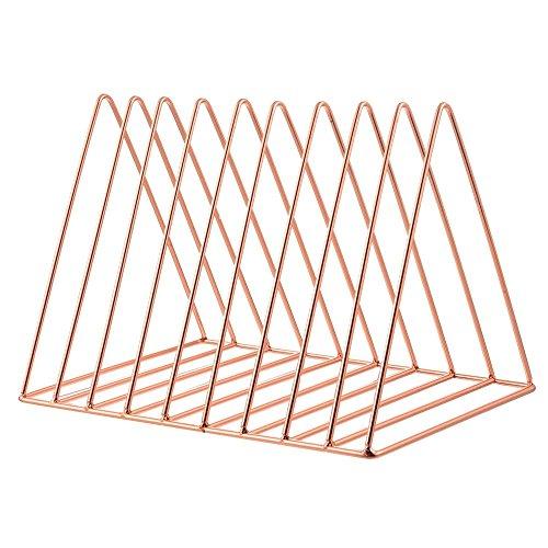 F.lashes Metall Dreieckig 9-Fach Bücherregal Exquisit Zeitschriftensammler Desktop Dokumentenhalter Schreibtisch Tischregal - Wire Rack Frame