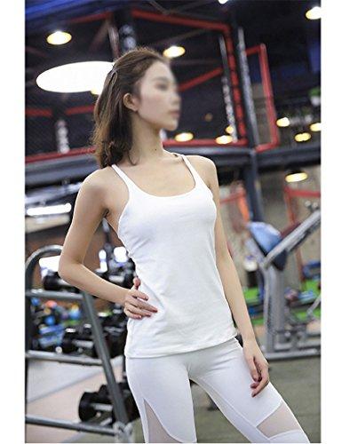 ZCJB Canottiera Yoga Incrociata Con Pettoraliera Sexy Sottile E Sottile Da Yoga ( Colore : Verde , dimensioni : L. ) Bianca