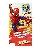 Carlton 553167-0- 2,5cm Disney Spiderman minimum 12,7cm carte d'anniversaire avec badge...