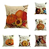 SEWORLD Halloween 6PC Home Car Bett Sofa Dekorative Brief Kissenbezug B