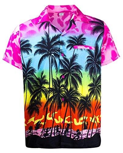 V.H.O. Funky Hawaiihemd, Kurzarm, Beach, Babypink, 6XL
