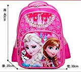 Mädchen Schulranzen Prinzessin ELSA Schulranzen Kinder Rucksack Kids Cartoon Primary Bookbag Kids Mochila Infantil Rose Big Size m