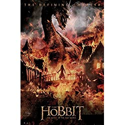 GB eye LTD, The Hobbit, La Batalla de los cinco ejércitos Dragon, Maxi Poster, 61 x 91,5 cm