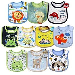 productos bebes: Tomkity 10x Impermeables Baberos del Bebé Baberos Bandana para Niño