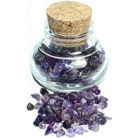 budawi® - Edelstein Amethyst im Dekoglas ca. 55g, echte Edelsteine getrommelt preisvergleich bei billige-tabletten.eu