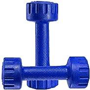 Aurion M1 Pvc Dumbell 1 KG x 2 (Blue)